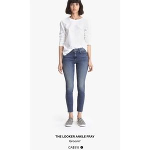 MOTHER Looker Ankle Fray Skinny Jean Crop
